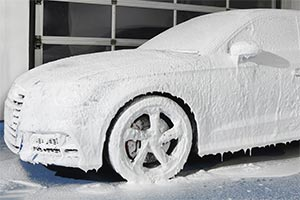 snow foam at American Carwash